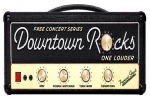 free downtown rocks concerts pictured on an amplifier.