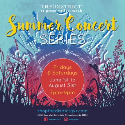The District summer concert series poster
