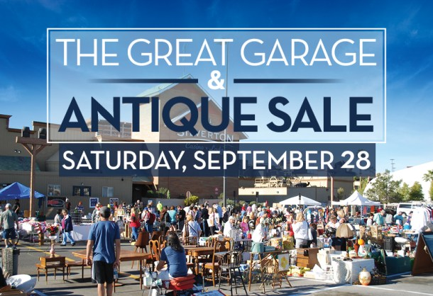 Picture of a large antique sale, with great garage and antique sale