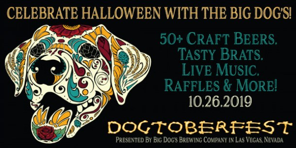 Big Dog's Dogtoberfest poster featuring Halloween Dog head