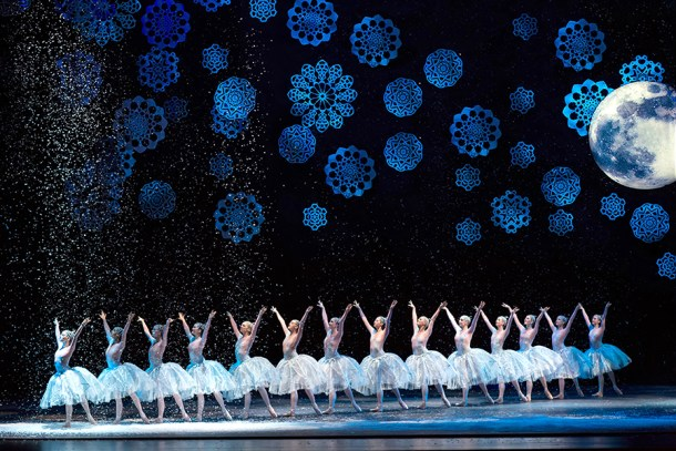 The Nevada Ballet presents the Nutcracker holiday event with ballerinas and snowflakes