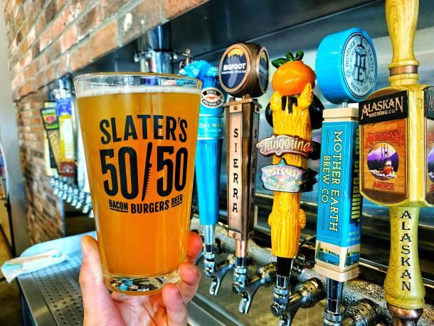 Slater's 50/50 draft beer selection