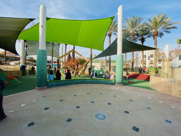 Newly renovated Childrens park at Town Square