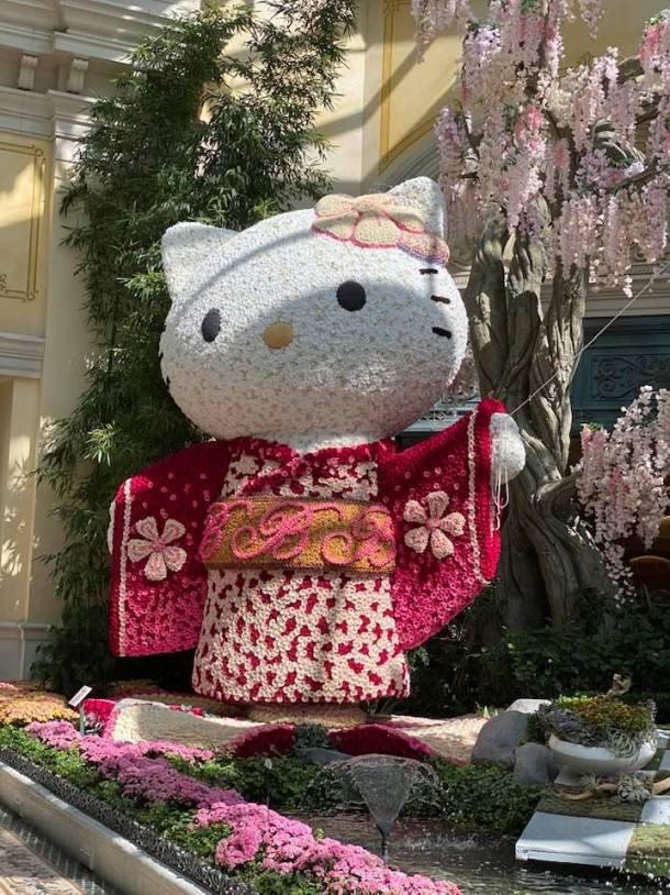 Bellagio Conservatory Japan Journey featuring Hello Kitty