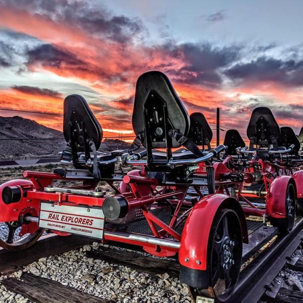 Rail Explorers in las vegas at southern nevada railway