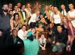 Pitbull with Melody Sweets and cast of ABSINTHE at Caesars Palace