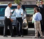 President Barack Obama meets the Bonilla family in Las Vegas