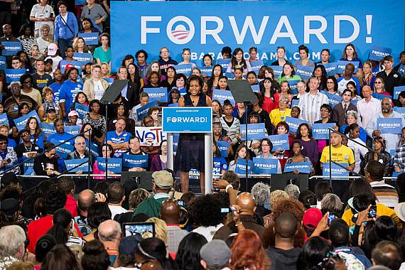 Michelle Obama Speaks to Grassroots Supporters in Las Vegas