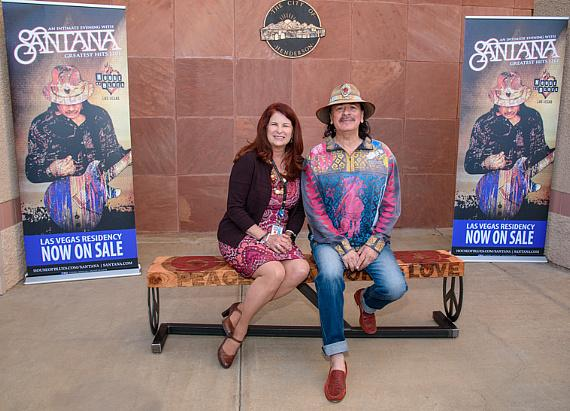 House of Blues Headliner Carlos Santana Unveils Community Bench for Habitat for Humanity