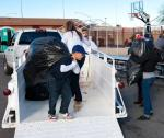 Donating items to The Las Vegas Rescue Mission