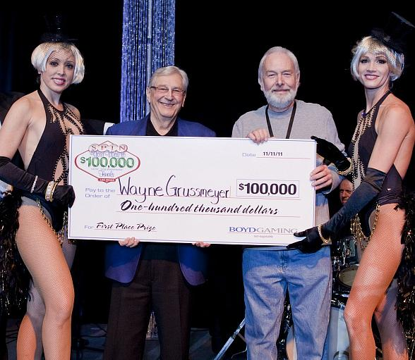 Suncoast regular Wayne Grussmeyer is $100,000 richer today