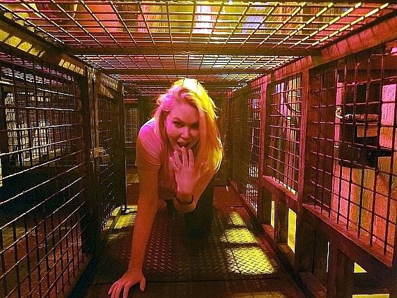 Model and Actress Shanna Moakler Visits the Official SAW Escape Room