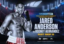 Big Baby in the Bubble: Heavyweight Prospect Jared Anderson Returns Against Rodney Hernandez on Herring-Oquendo Card September 5 at MGM Grand
