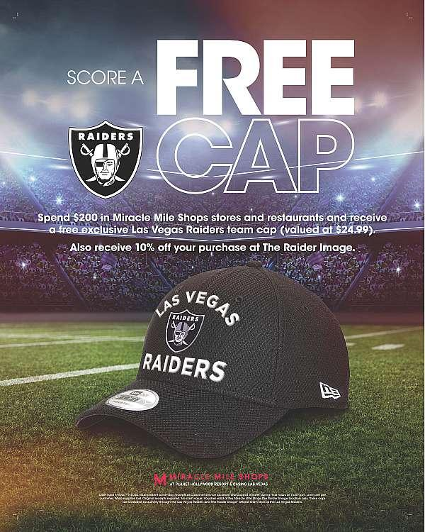 Score a Free Cap at The Raider Image at Miracle Mile Shops