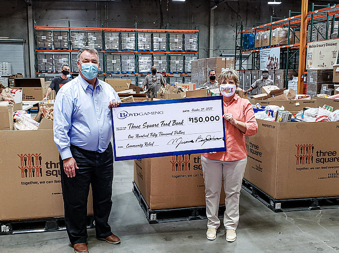 Three Square Food Bank Receives $150,000 from Boyd Gaming, Provides Nearly Half a Million Meals to the Community