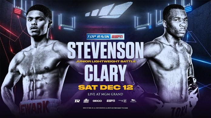 Shakur Stevenson vs. Toka Kahn Clary Junior Lightweight Showdown Headlines ESPN-Televised Tripleheader at MGM Grand in Las Vegas Dec. 12