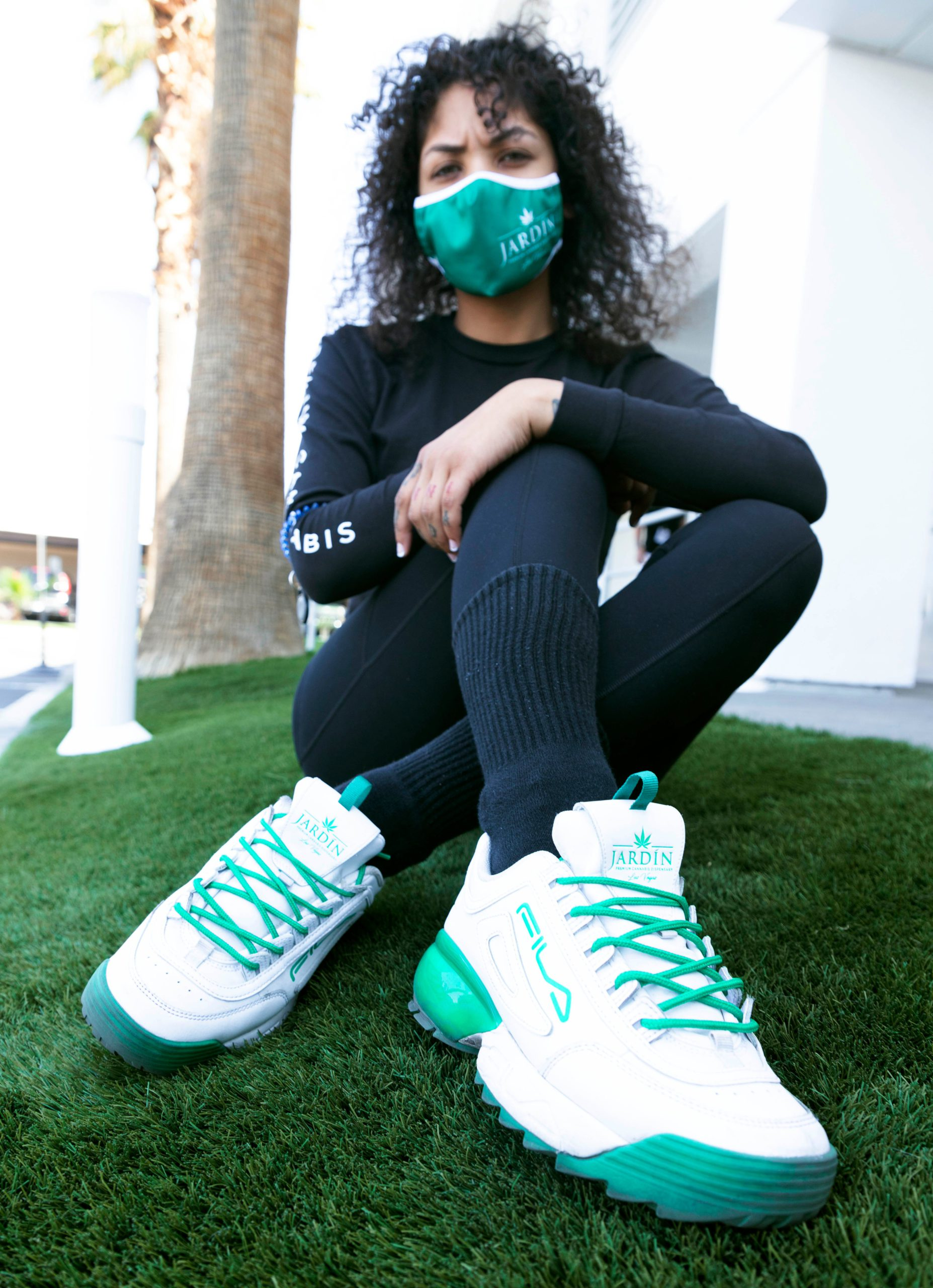 Exclusive FILA shoes created in collaboration with Jardin Premium Cannabis Dispensary