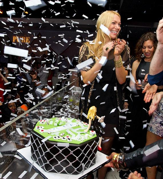 """Actress Laura Prepon of """"Are You There, Chelsea?"""" Celebrates Birthday at PURE Nightclub"""