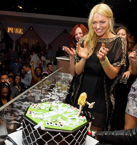"Actress Laura Prepon of ""Are You There, Chelsea?"" Celebrates Birthday at PURE Nightclub"