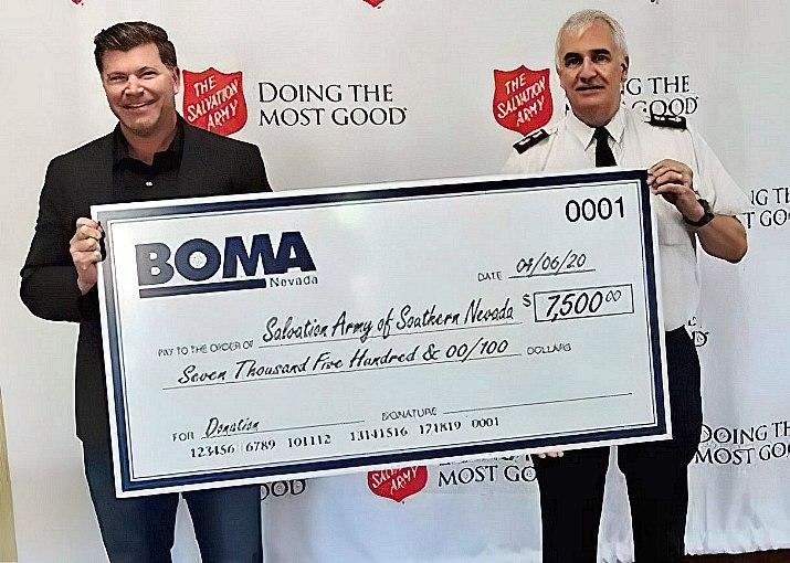 BOMA Nevada Donates $7,500 to The Salvation Army for COVID-19 Relief Efforts