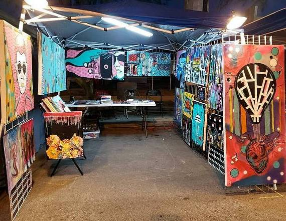 """First Friday Asks What's """"Next"""" in Your Life on Jan. 4th with Gem Jaxx, Local Mixed-Media Pop Artist and Latin-Psychedelic Band Kurumpaw"""