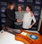 : Arcade Fire band members William Butler, Tim Kingsbury and Jeremy Garao