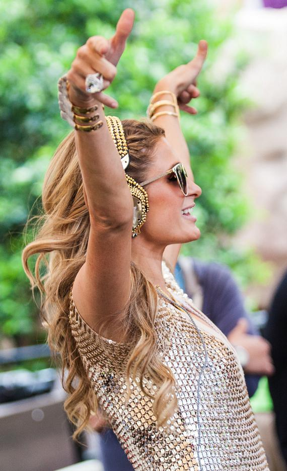 Paris Hilton performs DJ set at 2015 Grand Opening of REHAB at Hard Rock Hotel Las Vegas