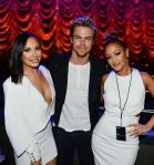"""Cheryl Burke, Derek Hough and Leah Remini at  """"Jennifer Lopez: All I Have"""" at The AXIS at Planet Hollywood Resort & Casino"""