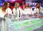 "Ladies of ""X Rocks"" play craps at Minus5 Ice Experience"