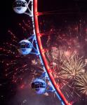 The High Roller with fireworks in background