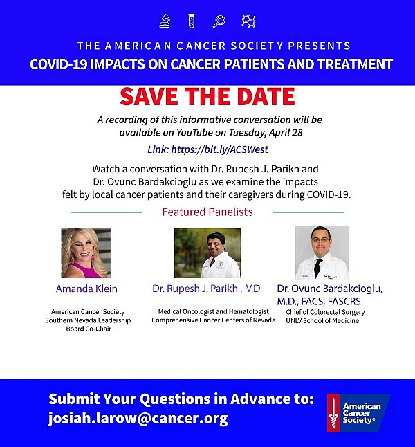 The American Cancer Society Presents Conversation Sharing Impact on Cancer Patients and COVID-19