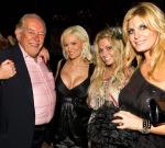 Robin Leach, Holly Madison, Angel Porrino and guest