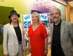 Carlos Santana with Linda Smith, Senior Executive Vice President of Opportunity Village and Ed Guthrie, CEO