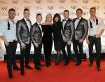 Olivia Newton-John, Marie Osand with Human Nature and Chippendales dancers Ryan Stuart and James Davis