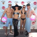Absinthe cast at GO Pool – Misha Furmanczyk, Melody Sweets, Genevieve Landry and Maxime Clabaut