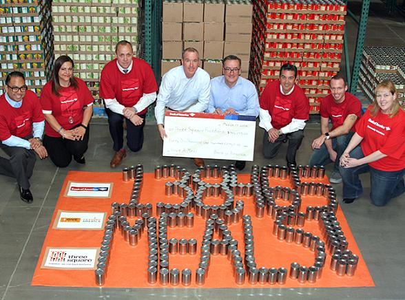 Bank of America Fights Hunger in Las Vegas, Donates $46,155 - equivalent to 138,465 meals - to Three Square Food Bank