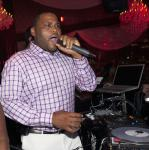 Anthony Anderson in the DJ booth at Eve Nightclub at Crystals CityCenter