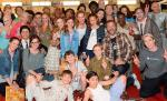 Leslie Mann family and friends celebrate birthday at The Beatles LOVE by Cirque du Soleil