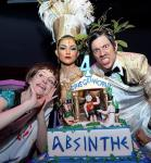 Melody Sweets, Joy Jenkins and The Gazillionaire appear during the ABSINTHE 4 year anniversary at Caesars Palace on April 1, 2015 in Las Vegas