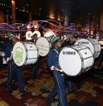 The Agassi drumline parading through the casino