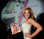 Brittney Palmer poses with her cover of Playboy Magazine inside Gallery Nightclub