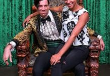 """ABC's """"American Housewife"""" Actress Carly Hughes Spotted at the Hit Show """"Absinthe"""" at Caesars Palace in Las Vegas"""