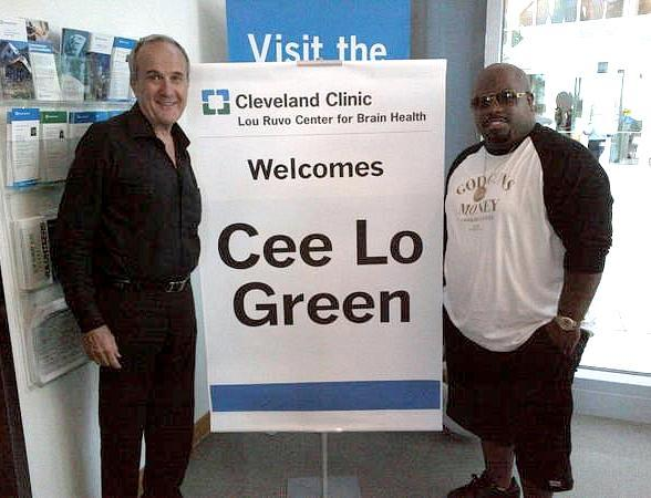 Larry Ruvo, founder of Keep Memory Alive, and Cee Lo Green at Cleveland Clinic Lou Ruvo Center for Brain Health