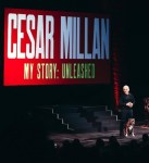 Cesar Millan and his dog, Junior, during the grand opening performance of Cesar Millan My Story – Unleashed, Sept. 13
