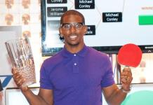 Chris Paul with trophy at TopSpin