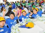 Clark County School District Day – students eat lunch provided by Subway