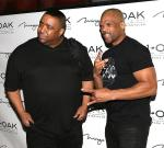 DJ Charlie Chan and DMC on red carpet at 1 OAK Las Vegas