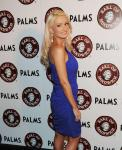 Holly Madision at Earl of Sandwich grand opening at The Palms