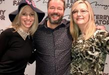 """Pop star Debbie Gibson attends Terry Fator's """"A Very Terry Christmas"""" at The Mirage"""