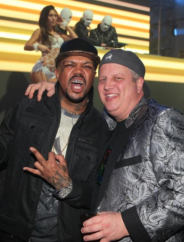 Three 6 Mafia's Oscar Winner Dj Paul celebrates his birthday and son Nautica's birthday at Andiamo Italian Steakhouse inside the D Casino Hotel